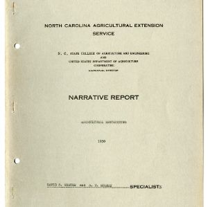 North Carolina Agricultural Extension Service Annual Report for 1930