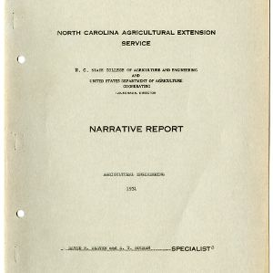 North Carolina Agricultural Extension Service Annual Report for 1931