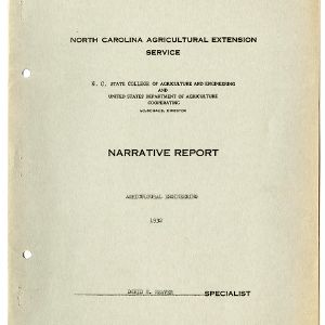 North Carolina Agricultural Extension Service Annual Report for 1932