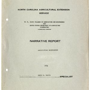 North Carolina Agricultural Extension Service Annual Report for 1934