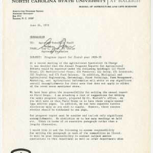 Biological and Agricultural Engineering Extension - Correspondence Progress Report for Fiscal Year 1969-1970