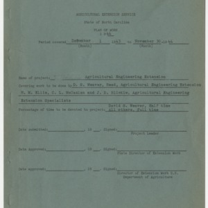 Agricultural Extension Service State of North Carolina - Plan of Work 1944