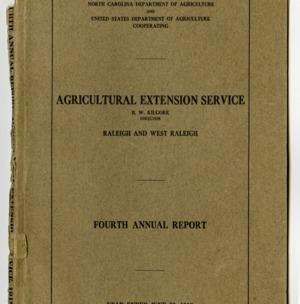 Fourth Annual Report of the North Carolina Agricultural Extension Service of the Year Ended June 30, 1918