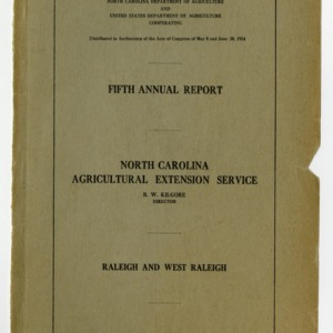 Fifth Annual Report of the North Carolina Agricultural Extension Service of the Year Ended in June 1919