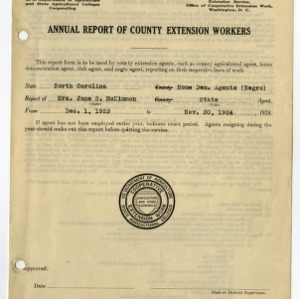 Cooperative Extension Service -- Annual Statistical Report 1923-1924