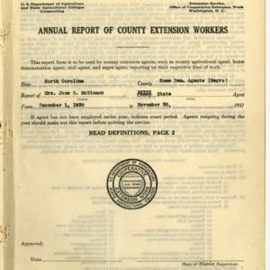 Annual Report of County Extension Workers 1931
