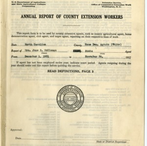 Annual Report of County Extension Workers 1932