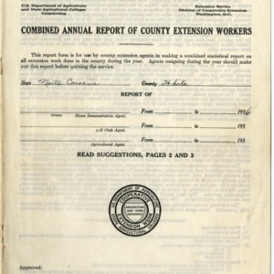 Combined Annual Report of County Extension Workers 1936