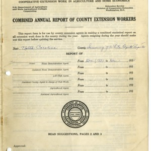 Combined Annual Report of County Extension Workers 1938