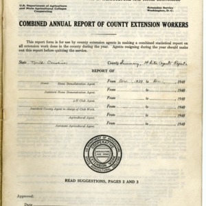 Combined Annual Report of County Extension Workers 1940