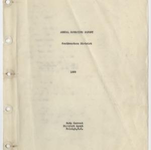 Annual Narrative Report - Southwestern District 1936