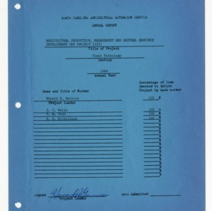 North Carolina Agricultural Extension Service Annual Report 1964