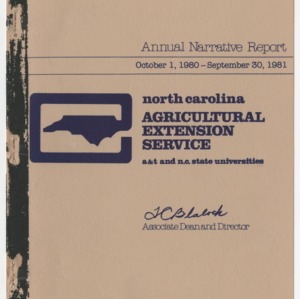 North Carolina Agricultural Extension Service - Annual Narrative Report - A&T and N.C. State Universities