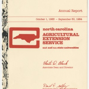 Annual Report North Carolina Agricultural Extension Service