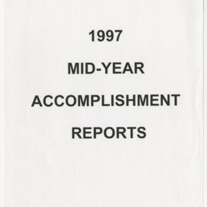 1997 Mid-Year Accomplishment Reports