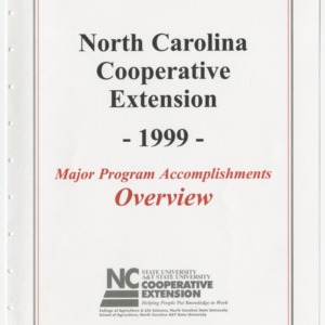 North Carolina Cooperative Extension - 1999 - Major Program Accomplishments Overview