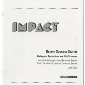 Impact - Recent Success Stories - College of Agriculture and Life Sciences