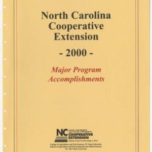 North Carolina Cooperative Extension - 2000 - Major Program Accomplishments