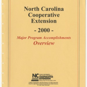 North Carolina Cooperative Extension - 2000 - Major Program Accomplishments Overview
