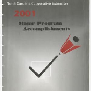 North Carolina Cooperative Extension - 2001 - Major Program Accomplishments