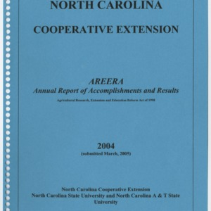 North Carolina Cooperative Extension - 2004 - Annual Report of Accomplishments and Results
