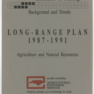 Information for Planning: Background and Trends - Long-Range Plan 1987-1991 - Agriculture and Natural Resources