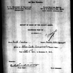 Report of Work of the County Agent, Negro Report, Martin, Pitt, & Edgecombe Counties, NC