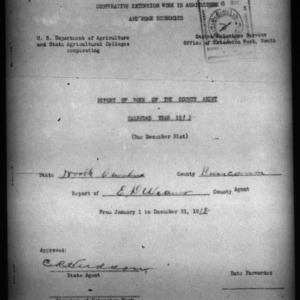 Report of Work of the County Agent, Buncombe County, NC