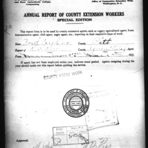 Annual Report of County Agricultural Extension Workers, Pitt County, NC