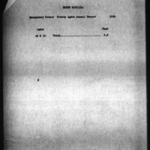 A Narrative Report Covering the Activities of A. R. Morrow, Montgomery County, NC