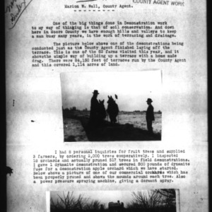 A Narrative Report of the County Agent's Work, Moore County, NC