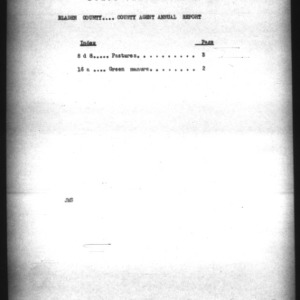 County Agent Annual Report, Bladen County, 1924