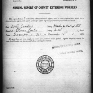 Annual Report of County Extension Workers, African American, Martin & Pitt Counties, NC