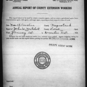 Annual Report of County Extension Workers, Pasquotank County, NC