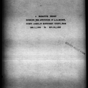 A Narrative Report, Montgomery County, NC