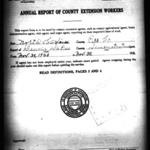 Annual Report of County Demonstration Workers, Pitt County, NC