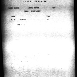 A Narrative Report of Bertie County Negro Extension Work