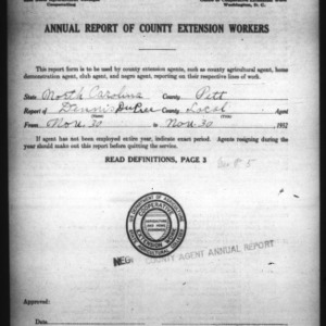 Annual Report of County Extension Workers, African American, Pitt County, NC