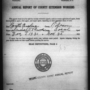 Annual Report of County Extension Workers, African American, Robeson County, NC