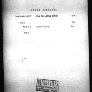 Annual Narrative Report of Perquimans County, NC