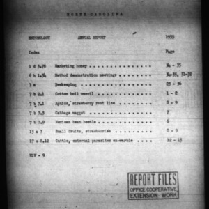 Annual Report of Extension Entomologist, 1935