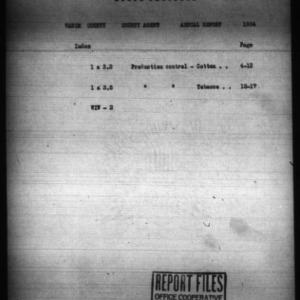 Annual Narrative Report of Vance County, NC