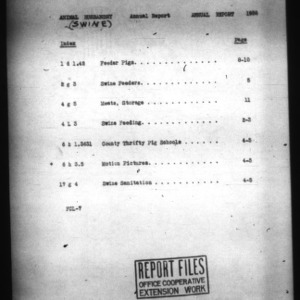 Annual Report of the Office of Swine Extension 1936