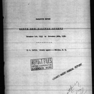 Annual Narrative Report of North End Halifax County, NC