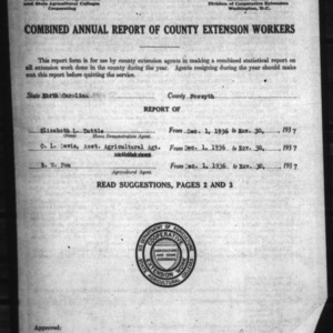 Annual Report of County Extension Workers, Forsyth County, NC