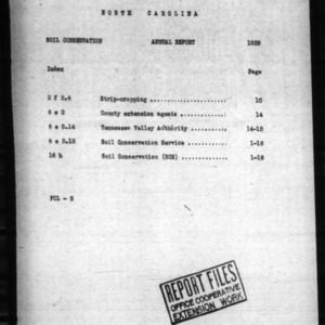 Annual Report of Extension Soil Conservation, 1938