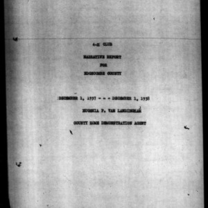 Annual Narrative Report of Home Demonstration Work of Edgecombe County, NC