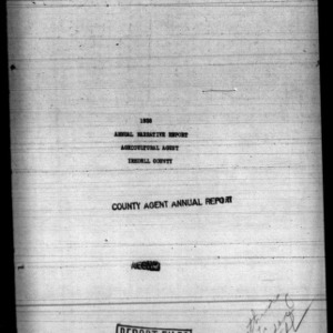 Annual Narrative Report of Agricultural Agent of Iredell County, NC