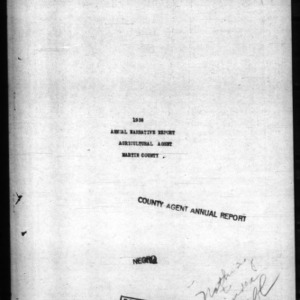 Annual Narrative Report of Agricultural Agent of Martin County, NC