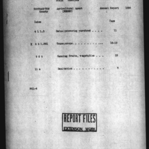 Annual Narrative Report of Agricultural Agent of Northampton County, NC